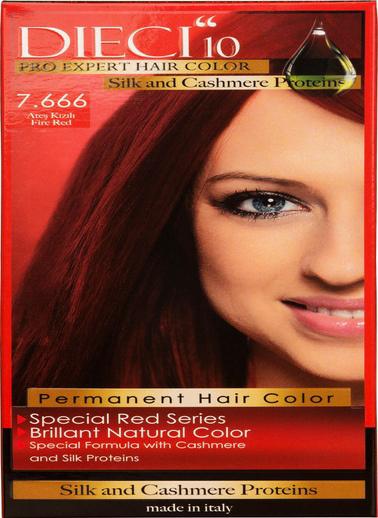 Dıecı Dıecı 10 Eko Kit Saç Boyası 7,666 Ateş Kızılı Kırmızı